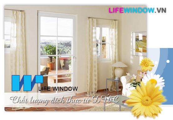 Cửa nhựa uPVC của LifeWindow - Ảnh mang tính minh họa